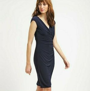 LAUREN Ralph Lauren Women's Black Jersey Dress